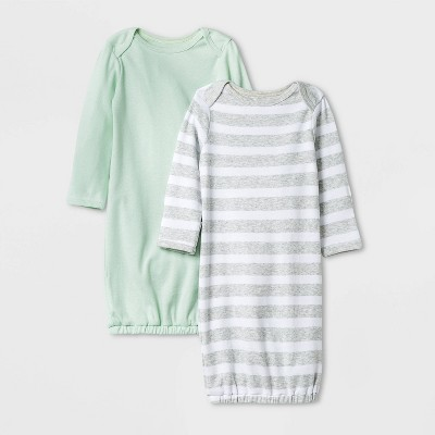 Baby Boys' 2pk Nightgown - Cloud Island™ Mint 0-3M