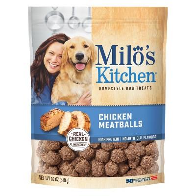 Milo's Chicken Meatballs Dog Treats - 18oz