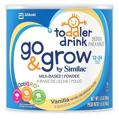Similac Go & Grow Toddler Drink, Vanilla Powder - 24oz