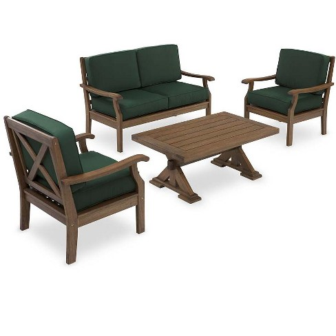 Excellent Claremont Outdoor Patio Love Seat Furniture Set With Cushions Plow Hearth Machost Co Dining Chair Design Ideas Machostcouk