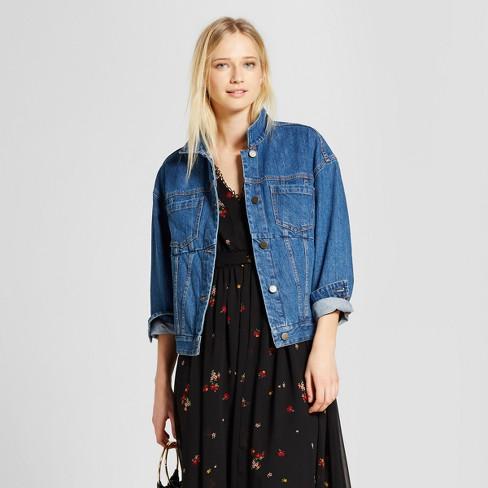 3828533ee313 Women s Swing Jean Jacket - Who What Wear™ Medium Wash   Target