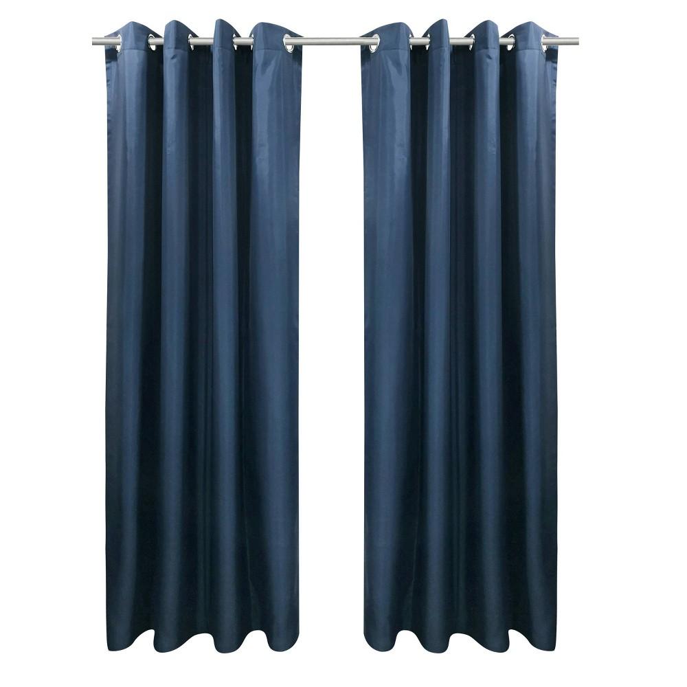 """Set of 2 (108""""x50"""") Bimini Grommet Top Curtain Panels Blue - Outdoor Décor"""