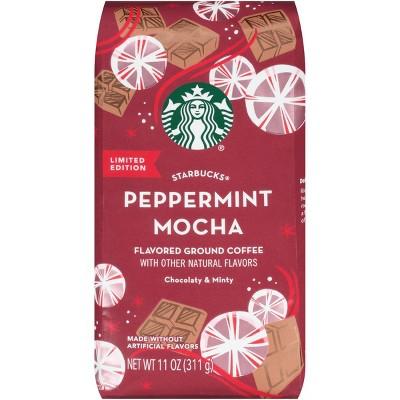 Starbucks Peppermint Mocha Flavored Light Roast Coffee   11oz by Starbucks