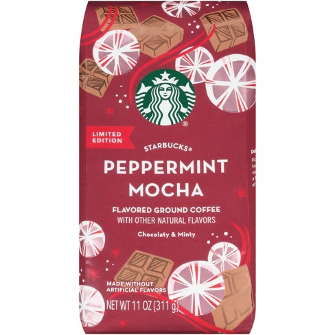 Starbucks Peppermint Mocha Flavored Coffee 11oz