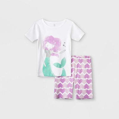 Girls' 4pc Mermaid Pajama Set - Just One You® made by carter's Purple