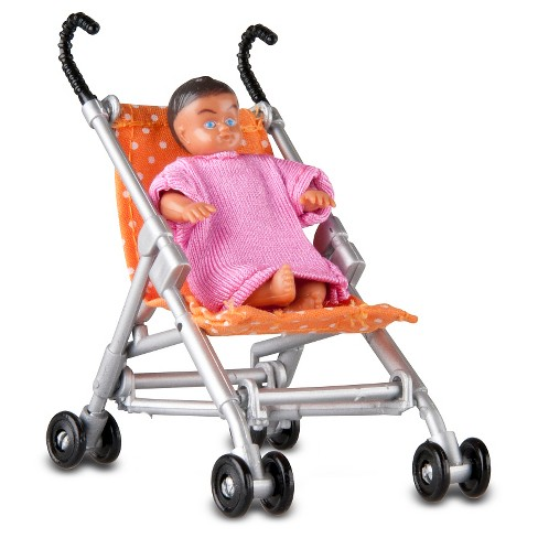 Lundby Småland Pushchair and Baby - image 1 of 1