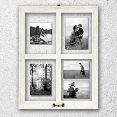 4 Opening Windowpane Frame White - MCS