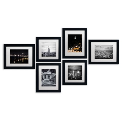 'Urban Collection Set of 6' Ready to Hang Black Framed Art
