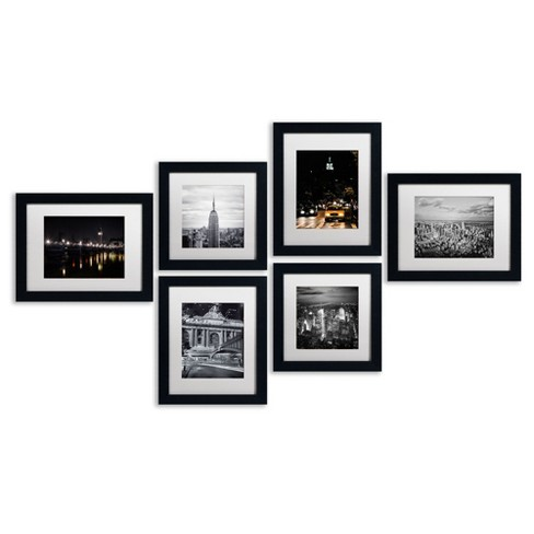 Urban Collection Set of 6\' Ready to Hang Black Framed Art : Target