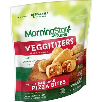 MorningStar Farms Vegan Frozen Veggitizers Sausage Pizza Bites - 9.5oz