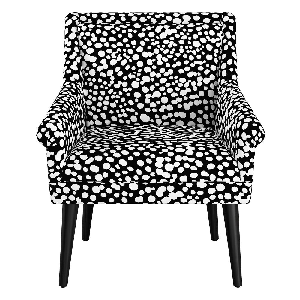 Image of Button Tufted Chair - Dancing Dots Black - Oh Joy!
