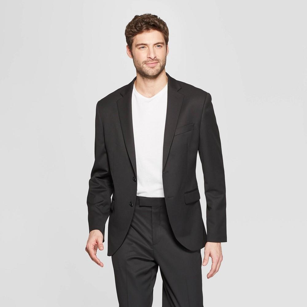 Men's Slim Fit Suit Jacket - Goodfellow & Co Black Tie 40R