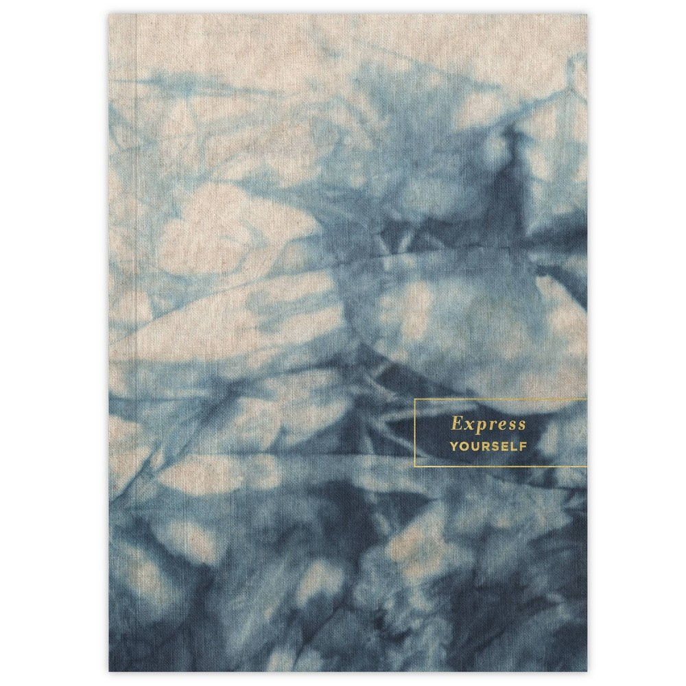 Lined Journal Softcover Sewn Tie Dye Green Inspired