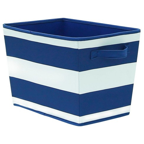 Striped Fabric Bin Large Navy - Pillowfort™ - image 1 of 1
