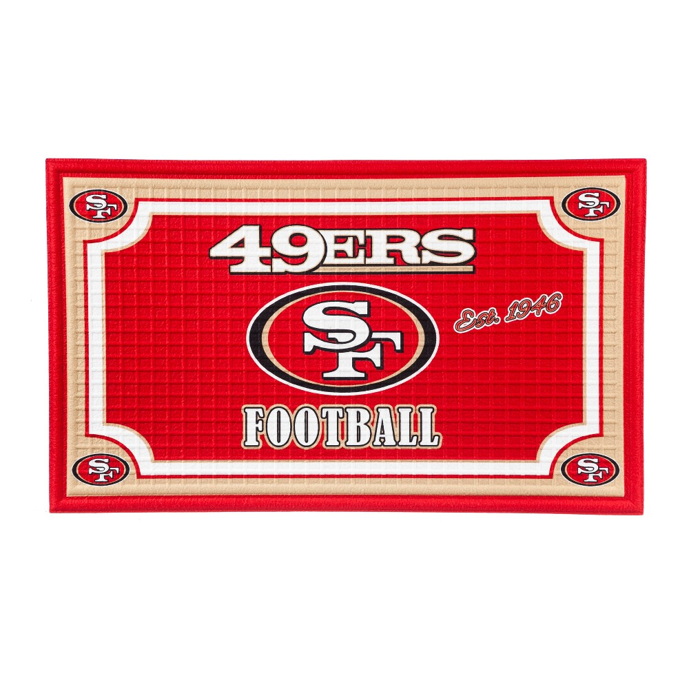 San Francisco 49ers Embossed Welcome Mat - 18