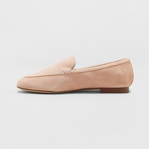 03946f39767 Women s Mila Suede Loafers - A New Day™ Blush 6   Target