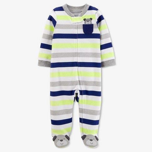 ddbe9b7c0 Baby Boys' Dog Pocket Striped Sleep N' Play - Just One You™ Made By Carter's®  Silver : Target