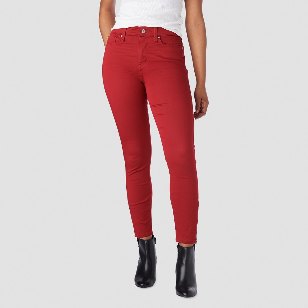 Denizen from Levi's Women's High-Rise Ankle Skinny Jeans - Red 16
