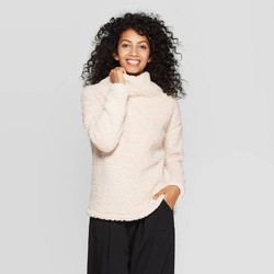 Women's Any Day Long Sleeve Turtleneck Sherpa Pullover - A New Day™
