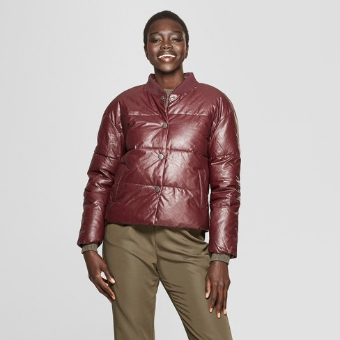 Women's Puffer Coat - Who What Wear™ Brown - image 1 of 3