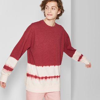 Men's Tie Dye Regular Fit Long Sleeve French Terry Pullover Sweatshirt - Original Use™ Radish L