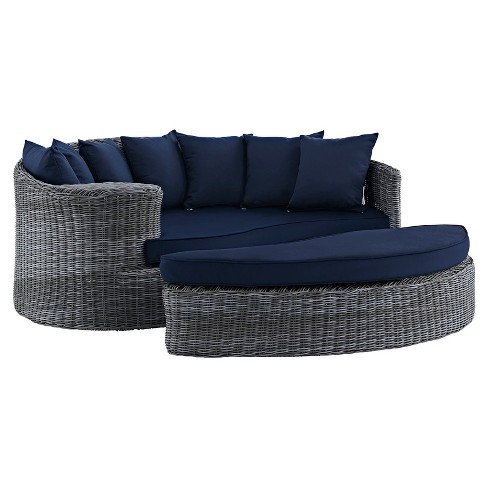 Summon Outdoor Patio Sunbrella® Daybed - Modway - image 1 of 4