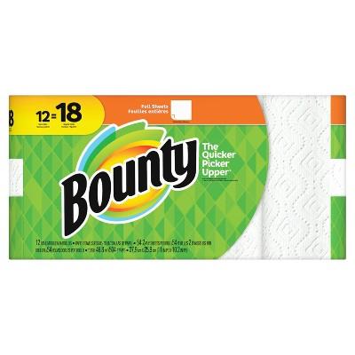 Bounty Full Sheet Paper Towels - 12 Giant Rolls