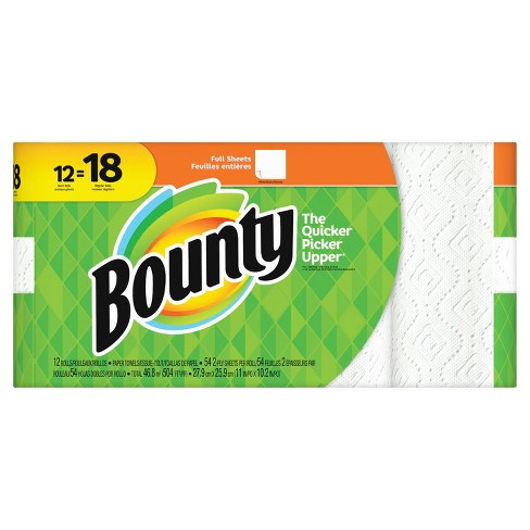 Bounty Full Sheet Paper Towels - Giant Rolls - image 1 of 5