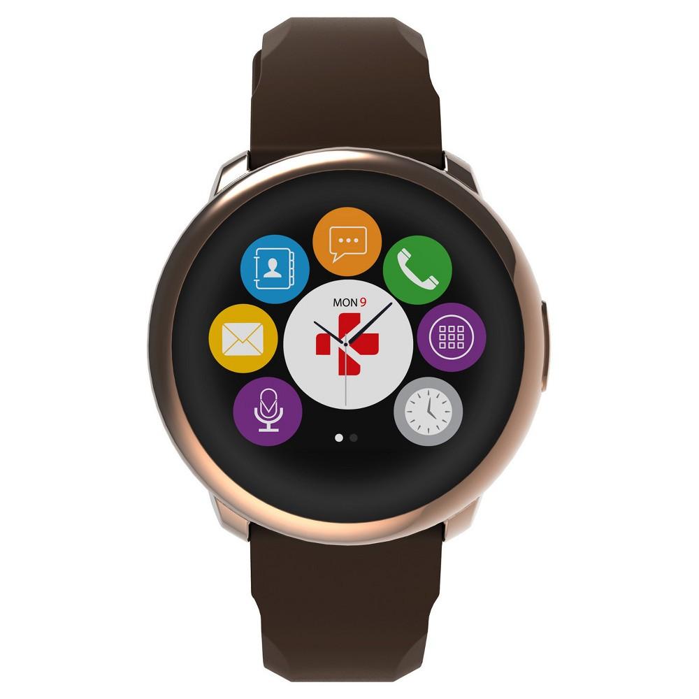 MyKronoz ZeRound Smartwatch with Touchscreen - Pink Gold/Brown