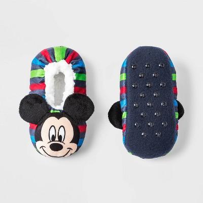 Toddler Boys' Mickey Mouse Slipper Socks - White