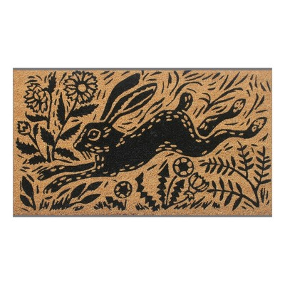 Woodcut Hare Doormat - 18 x30  - Threshold™