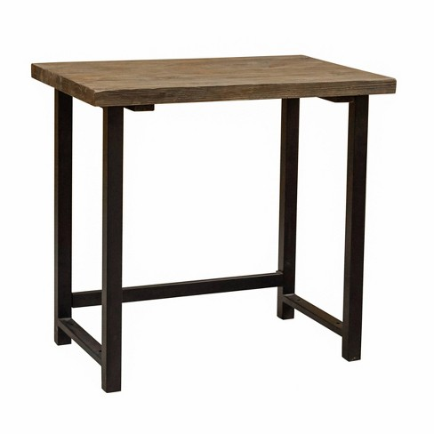 Pomona Metal and Solid Wood Desk - Alaterre Furniture - image 1 of 4