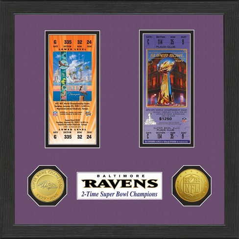 NFL Super Bowl Champ Ticket Collection Framed Wall Art - image 1 of 1