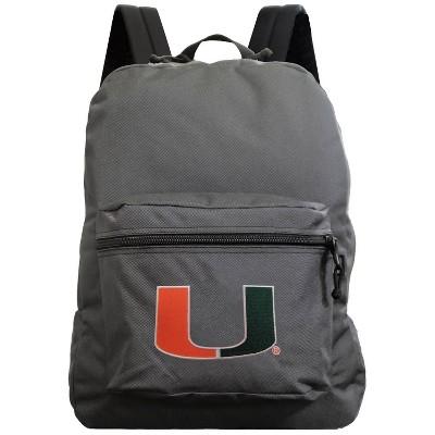 NCAA Miami Hurricanes Gray Premium Backpack