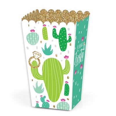 Big Dot of Happiness Final Fiesta - Last Fiesta Bachelorette Party Favor Popcorn Treat Boxes - Set of 12