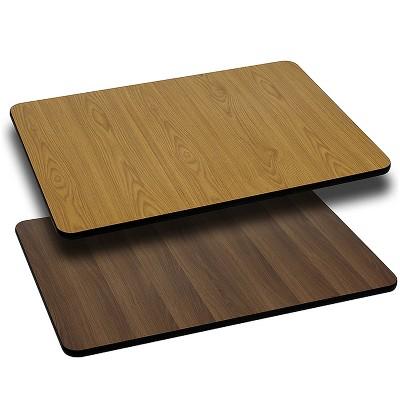 Flash Furniture 24'' x 42'' Rectangular Table Top with Reversible Laminate Top