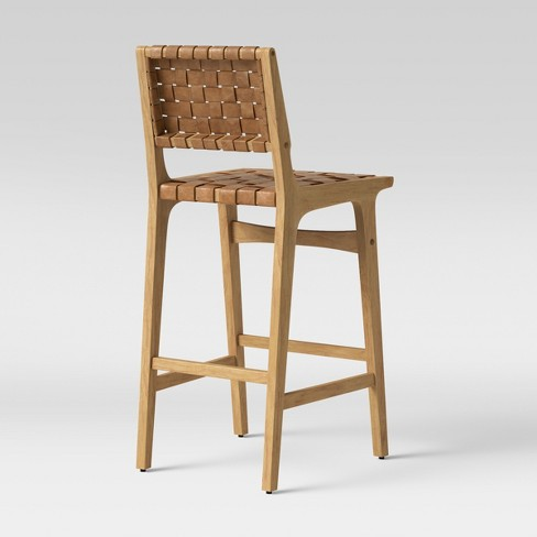 Ceylon Woven And Wood Barstool Brown Natural Opalhouse