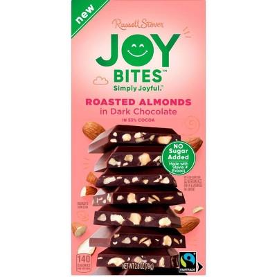 Russell Stover Joy Bites Roasted Almond Dark Chocolate Bar - 2.8oz