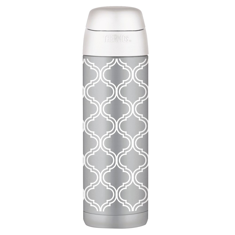 Thermos Water Bottle Stainless Steel Insulated 18 oz - Brooke, Light Gray