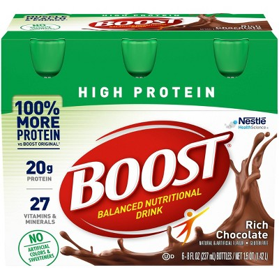 Boost High Protein Nutritional Shake - Chocolate - 6pk