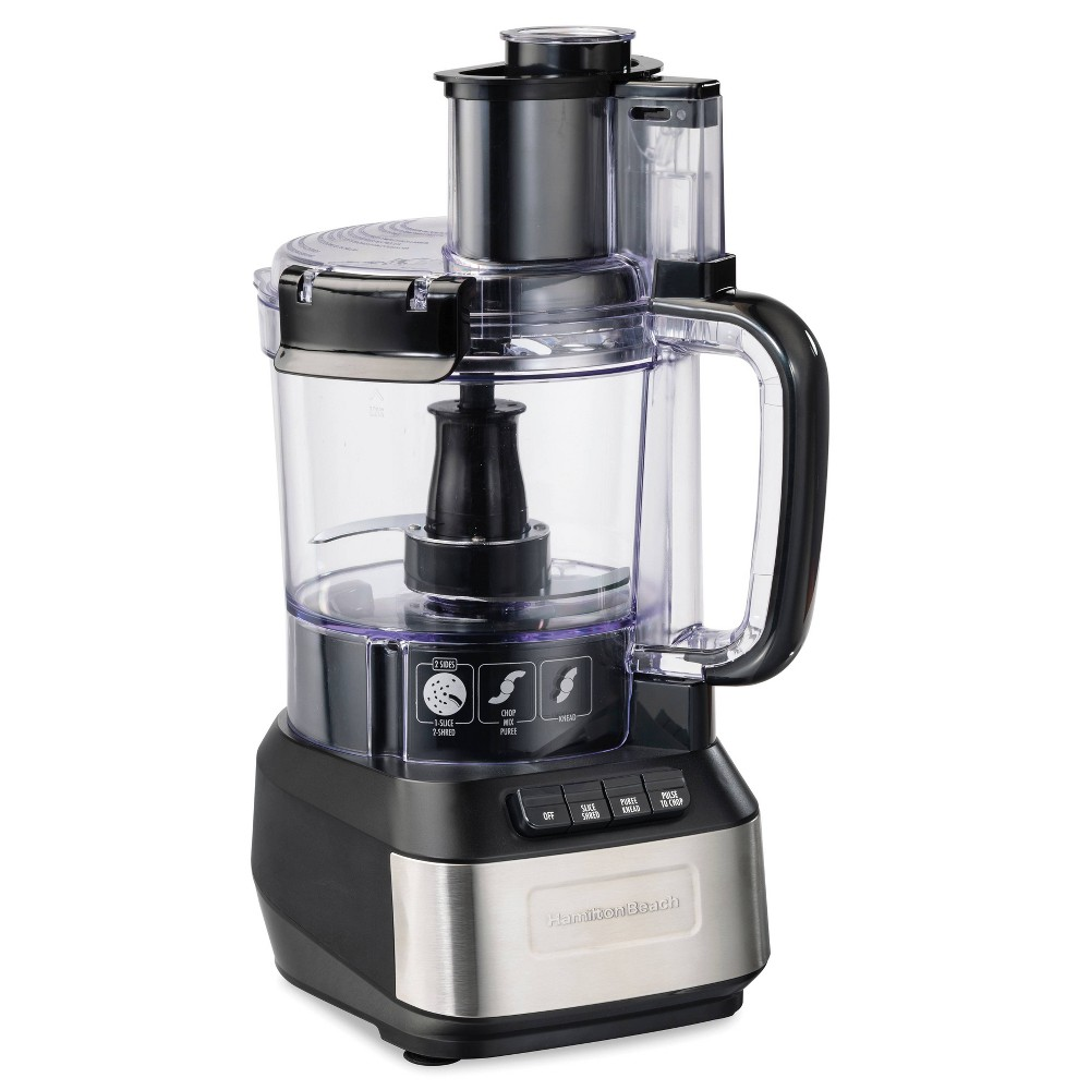 Image of Hamilton Beach Stack and Snap 12 Cup Food Processor Black 70727