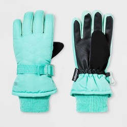 Girls' Solid Promo SKI Gloves - C9 Champion® Green