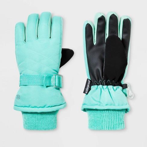 Girls' Solid Promo SKI Gloves - C9 Champion® Green - image 1 of 1