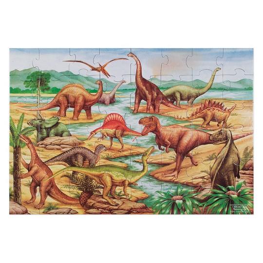 Melissa And Doug Dinosaurs Jumbo Floor Puzzle 48pc image number null