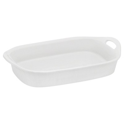 CorningWare 3qt Oblong Bakeware White