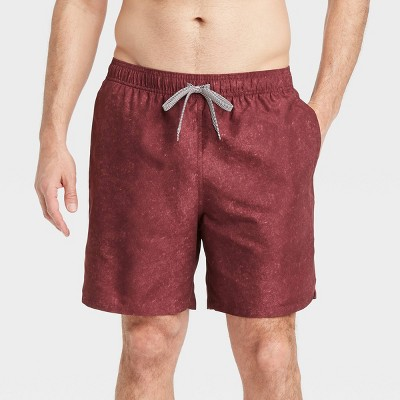 """Men's 7"""" Swim Trunks - Goodfellow & Co™ Burgundy"""