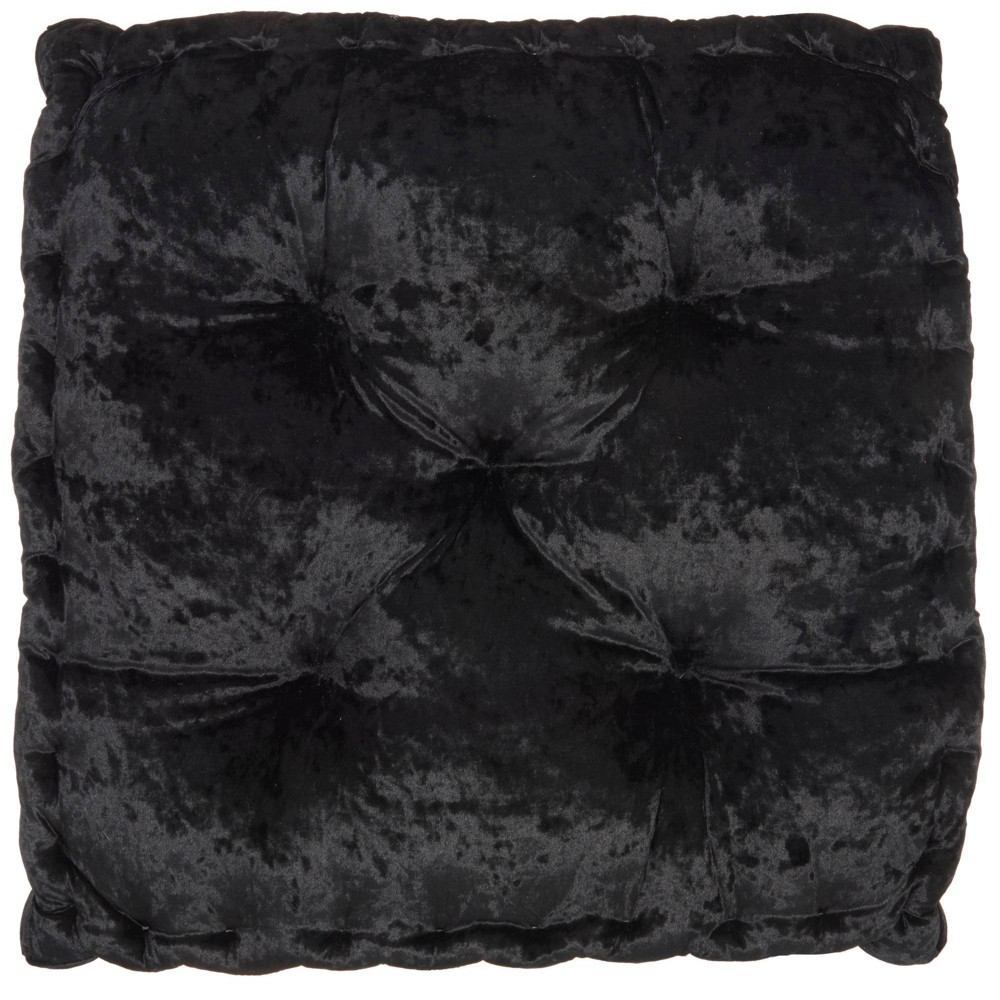 "Image of ""24""""x24""""x4"""" Life Styles Booster Seat Cushion Floor Pillow Black - Mina Victory"""