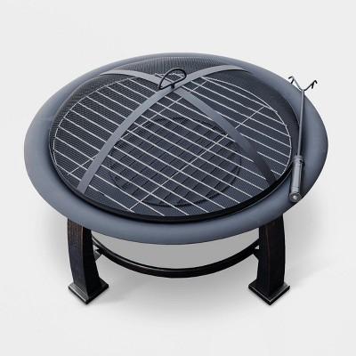 Steel Wood Burning Fire Pit - Vintage Black - AZ Patio Heaters