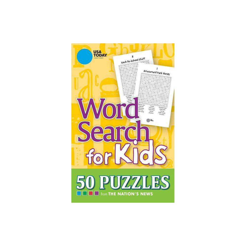Usa Today Word Search For Kids By Usa Today Paperback