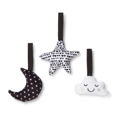 Attachable Hanging Toys Starry Slumber - Cloud Island™ Black/White